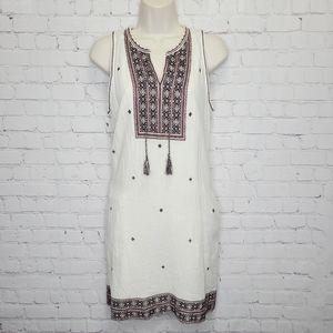 Madewell Boho Embroidered Shift Dress